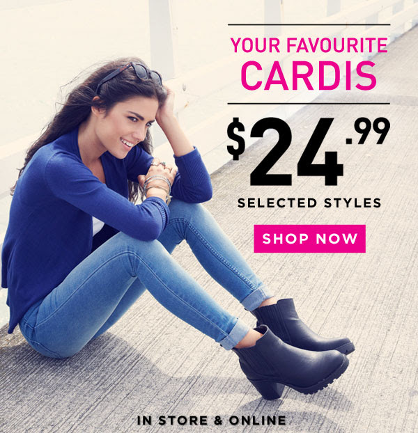 A Great Range of Cardigans For Just $24.99 @ Glassons.com
