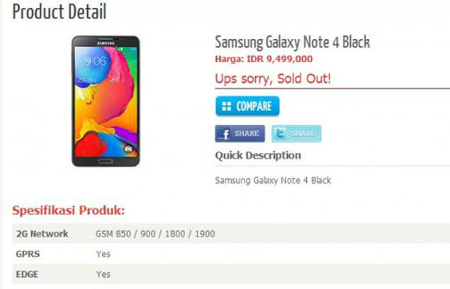 Samsung Galaxy Note 4 Specifications