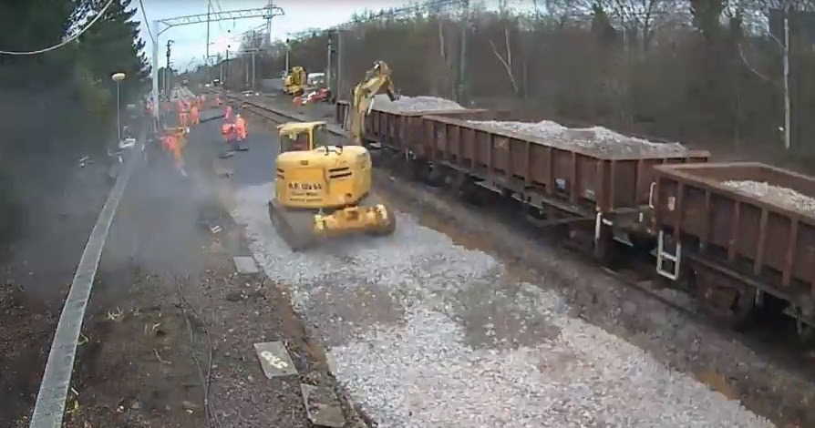 Vital upgrade to track near Peterborough station means trains can travel at higher speeds