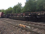 Coleshill derailed freight train 2