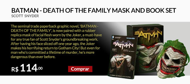 BATMAN - DEATH OF THE FAMILY MASK AND BOOK SET