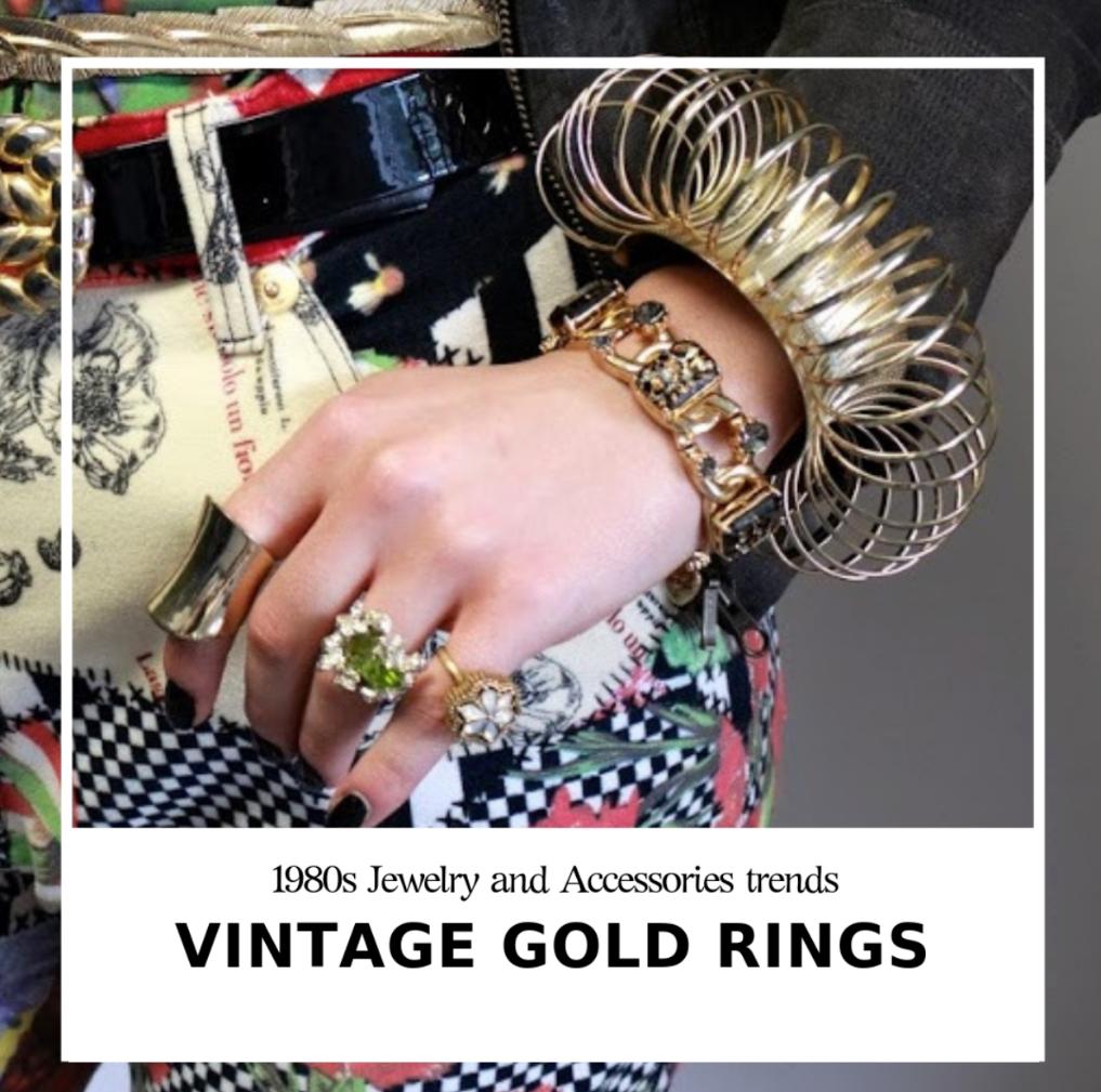 peridot green golden ring vintage jewelry