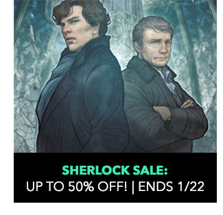 Sherlock Sale: up to 50% off! Sale ends 1/22.