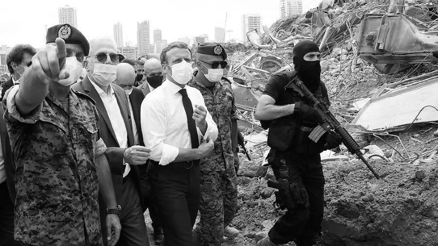 Libano presidente Macron la-tinta