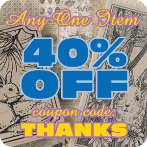 Get 40% off Any One Item with Coupon Code!