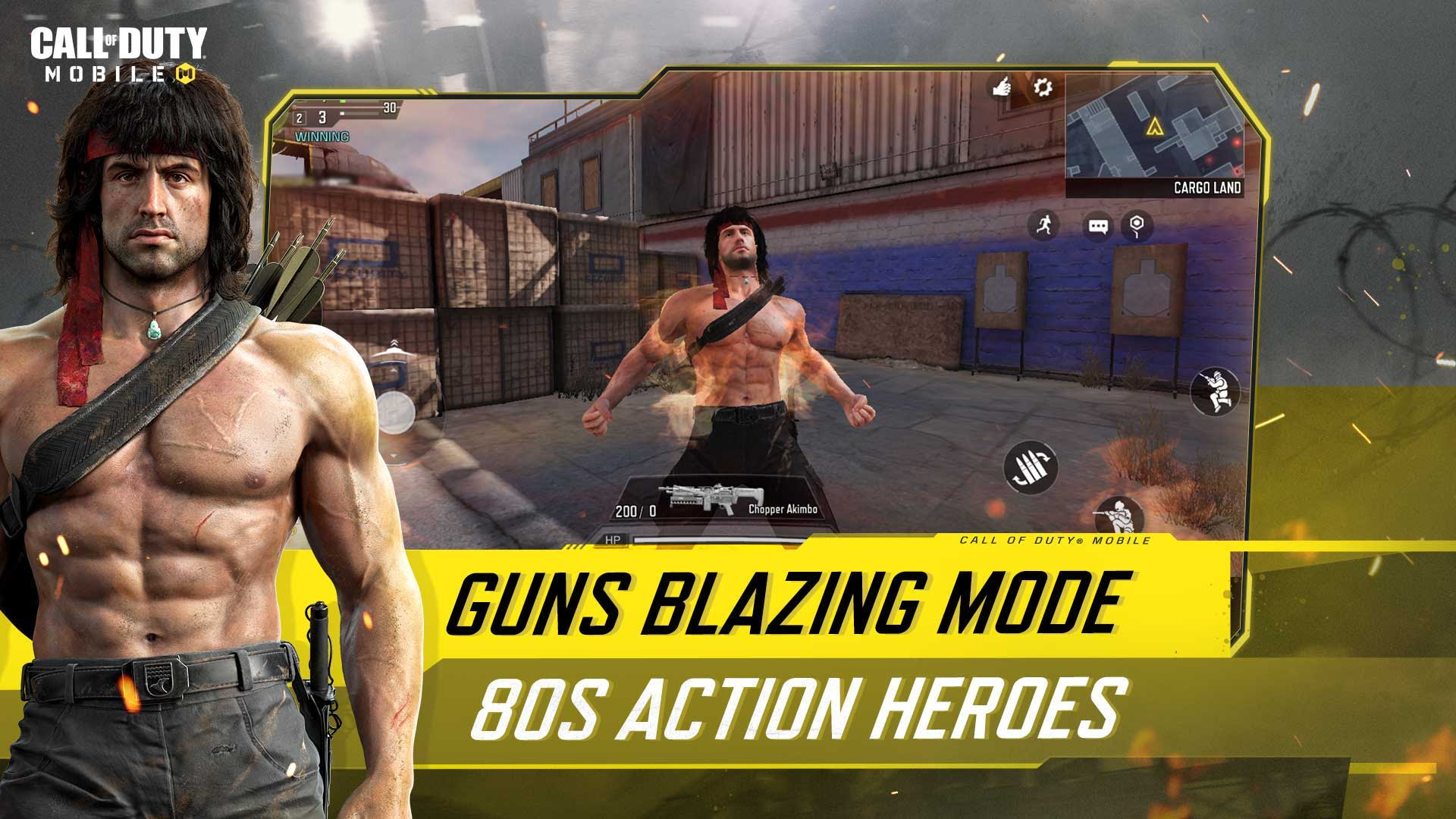 """Call of Duty recibe a John McClane y Rambo con el evento """"Héroes de acción de los 80s"""" que llegará a Warzone, Black Ops y Mobile."""