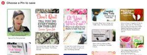 Pinterest Screenshot.