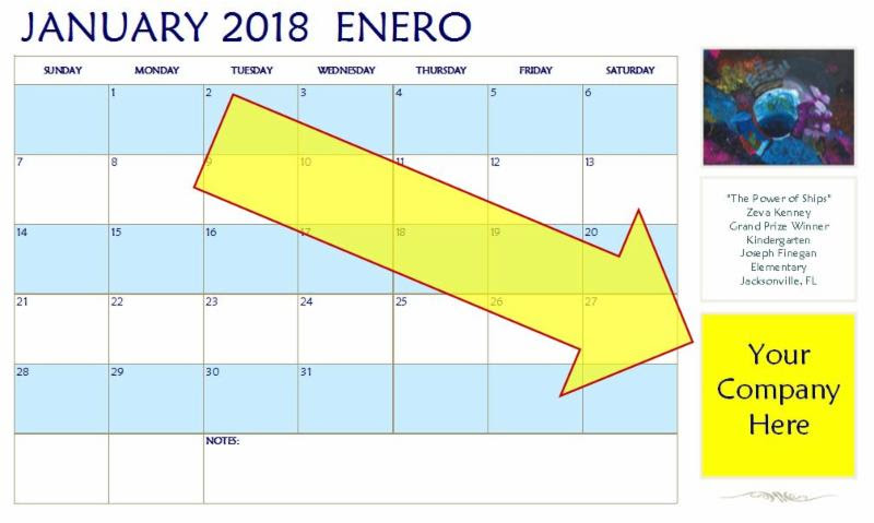 North American Marine Environment Protection Association NAMEPA Art Contest Calendar Example