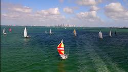 J/30 sailing Key Biscayne round island race