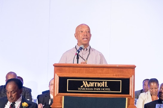 Russell Simmons, co-founder of RushCard, addresses 1,200 law enforcement executives at NOBLE's 40th Annual Training Conference