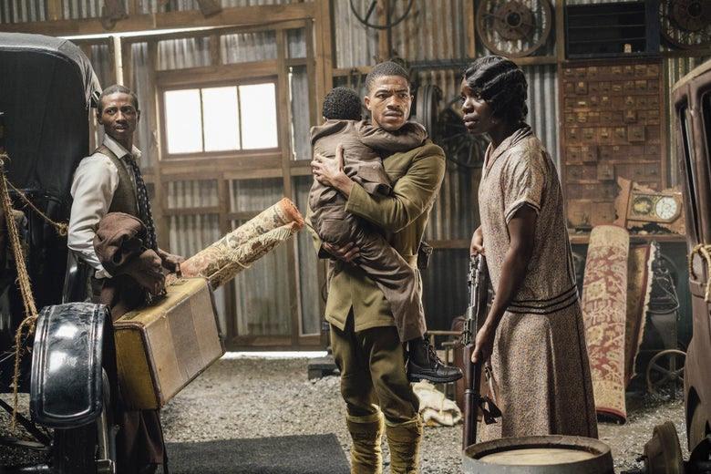 Dajour Ashwood, Steven Norfleet, and Alexis Louder in Watchmen.