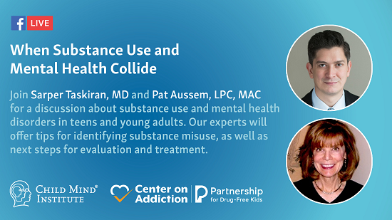 Facebook Live on Teen Substance Use & Mental Health; Thursday, April 18 from 3:00-3:30 p.m. EDT