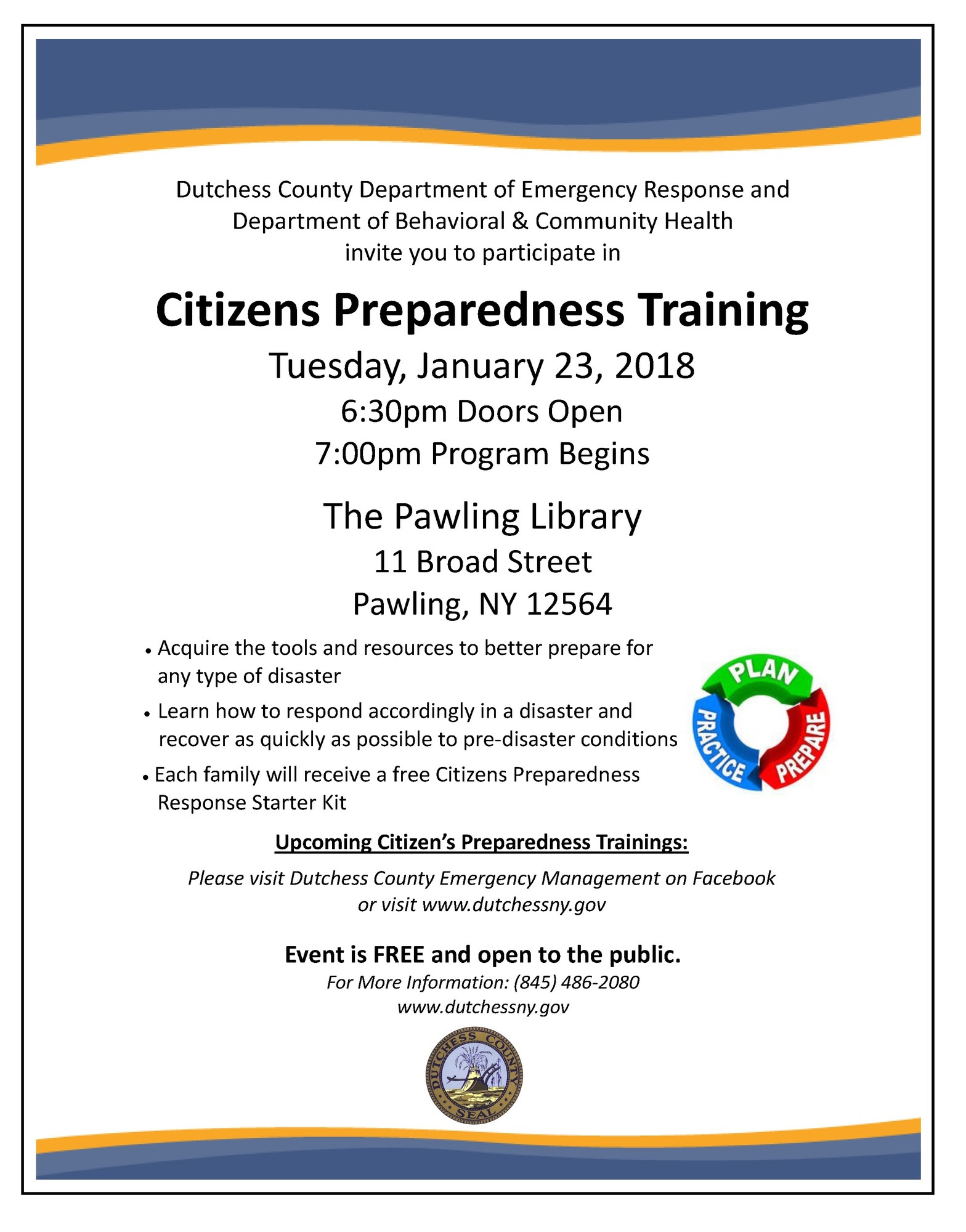 Citizens Preparedness - Pawling Library