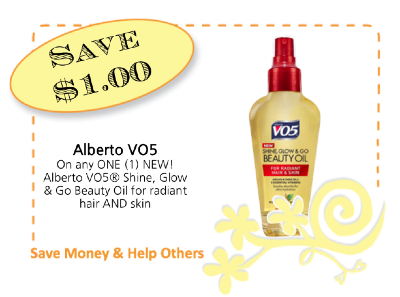 VO5 Beauty Oil CommonKindness coupon