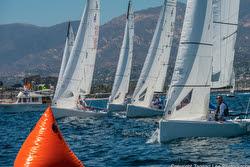 J/70s sailing off Santa Barbara, CA