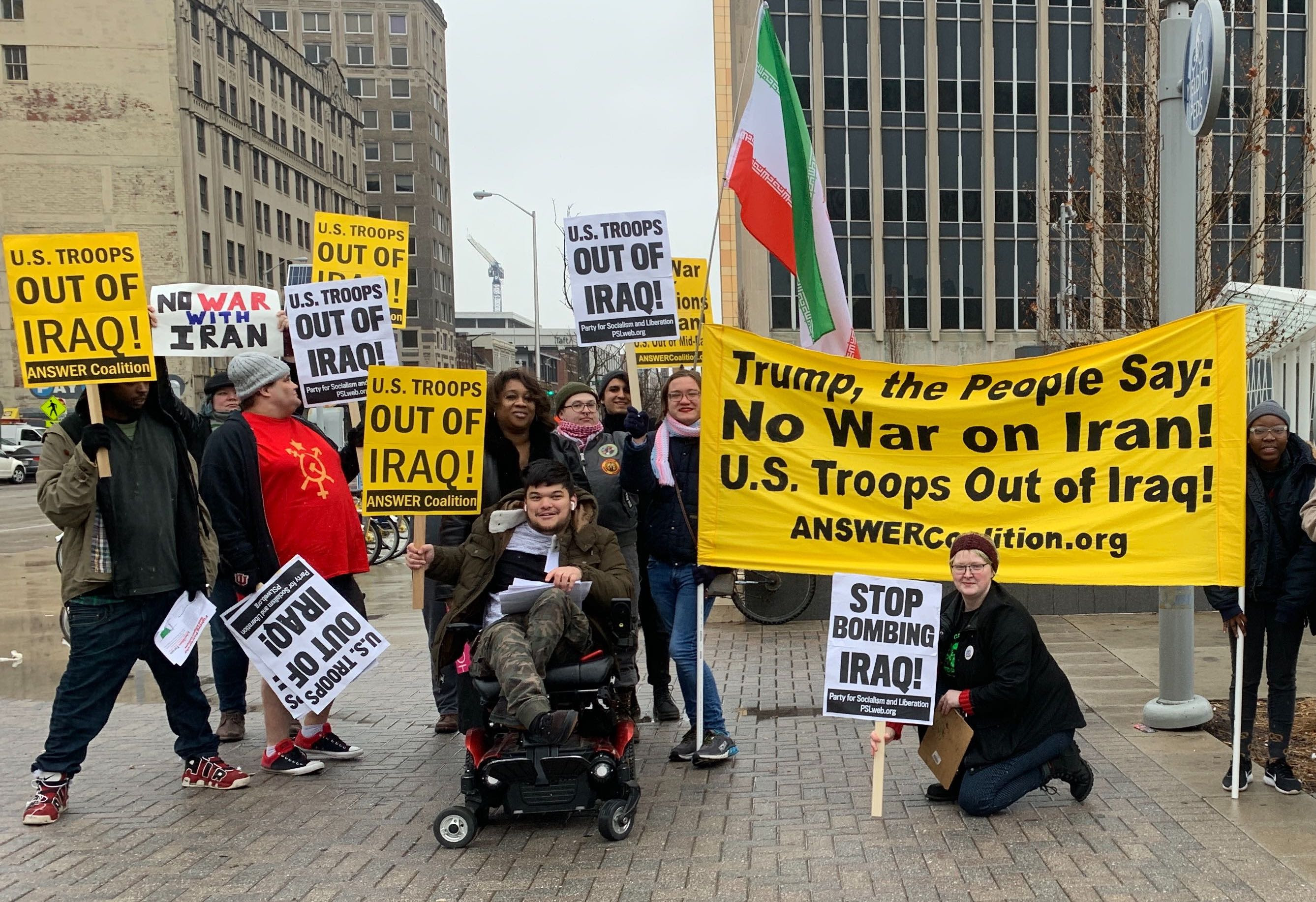 One of the first protests against war with Iran!