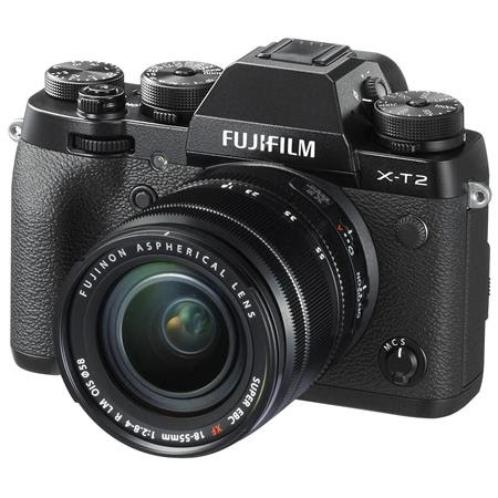 X-T2 Mirrorless Camera with XF 18-55mm f/2.8-4 R LM OIS Lens, Black