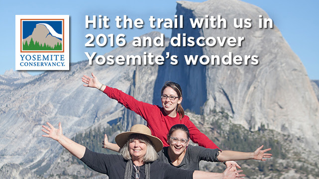 Hit the trail with us in 2016 and discover Yosemite's wonders