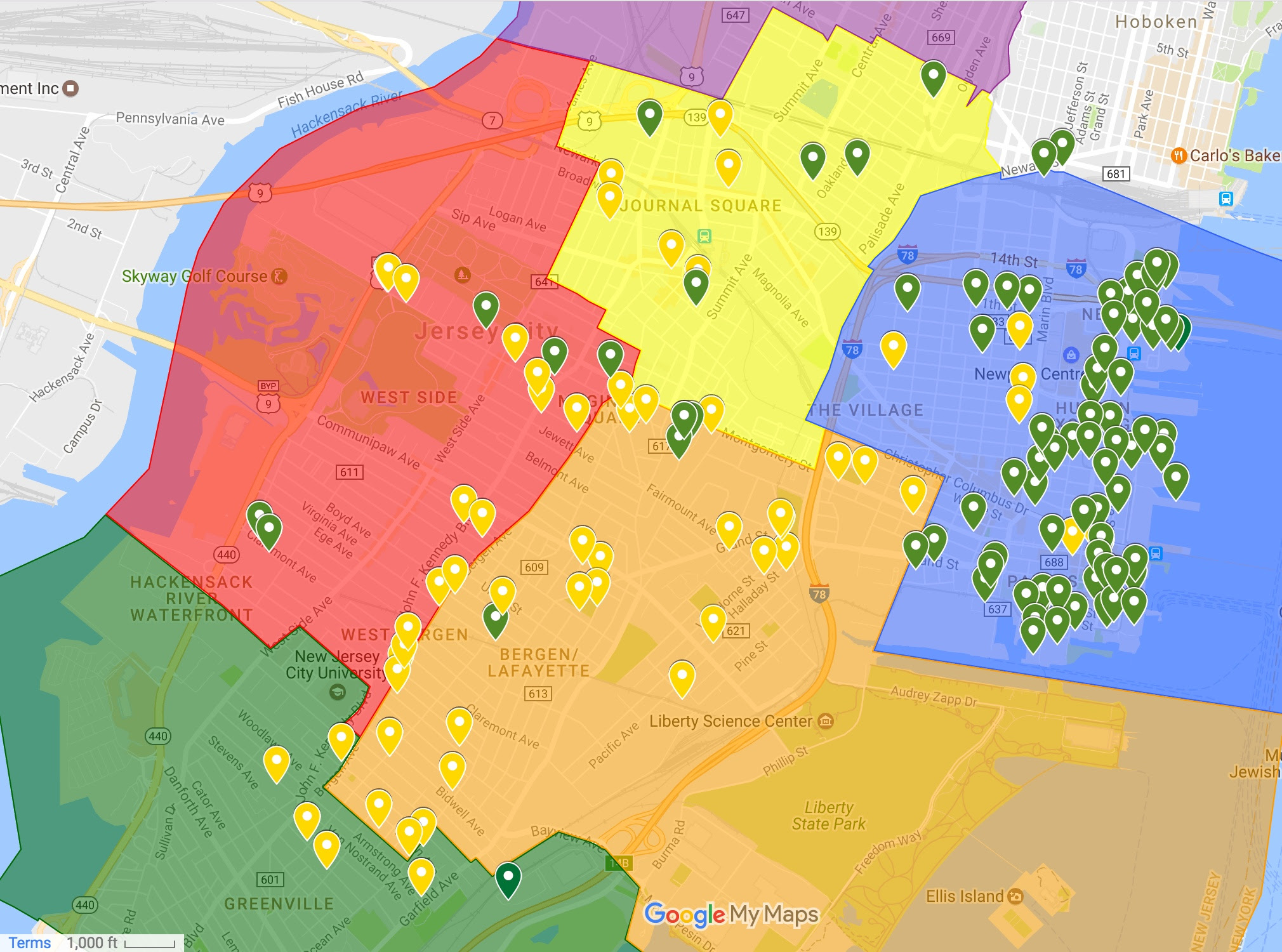 Jersey City Ward Map Mapping Jersey City's Abatements by Project Type and Ward | Civic