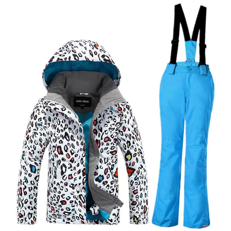 Лыжный костюм леопардовый с рюками