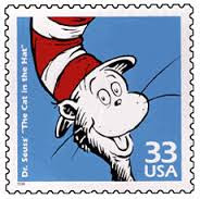 Cat In the Hat postage stamp