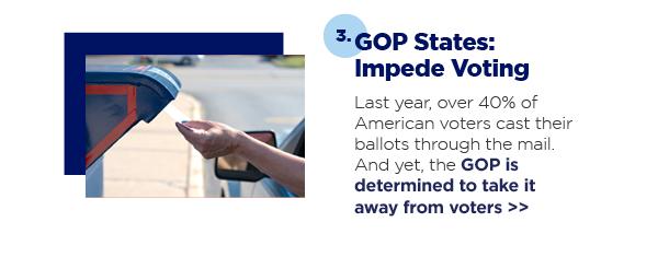 3. GOP States: Impede Voting
