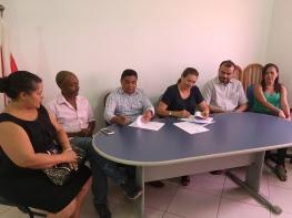 Ato de assinatura de termo que oficializa parceria entre Incra e Ufopa