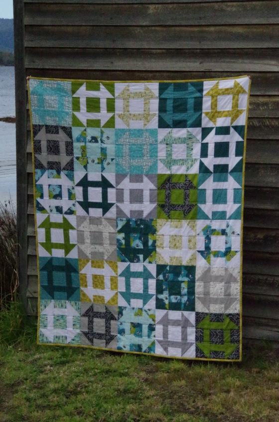 Churn Dash Quilt May 2015