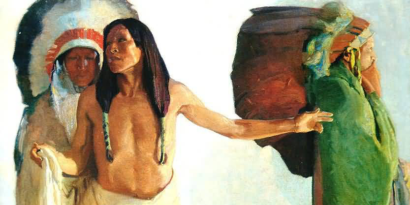 Image credit: The Peacemaker (detail), Ernest L. Blumenschein, 1913, courtesy of the Anschutz Collection.