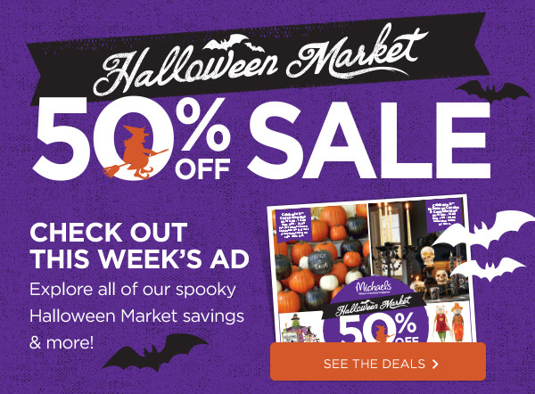 Halloween Market 50% Off Sale.Check Out This Week's Ad. See the deals »