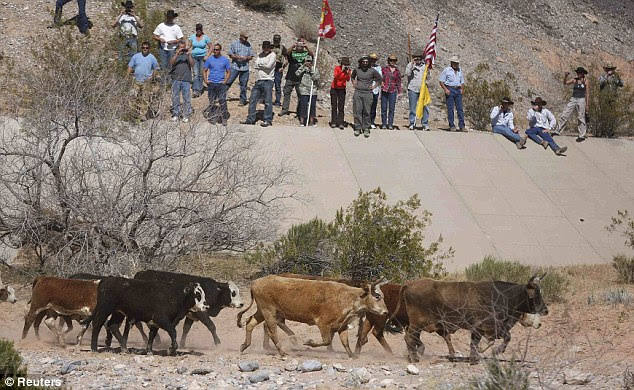 The dispute between Bundy and federal land managers began in 1993 when he stopped paying monthly fees of about $1.35 per cow-calf pair to graze public lands