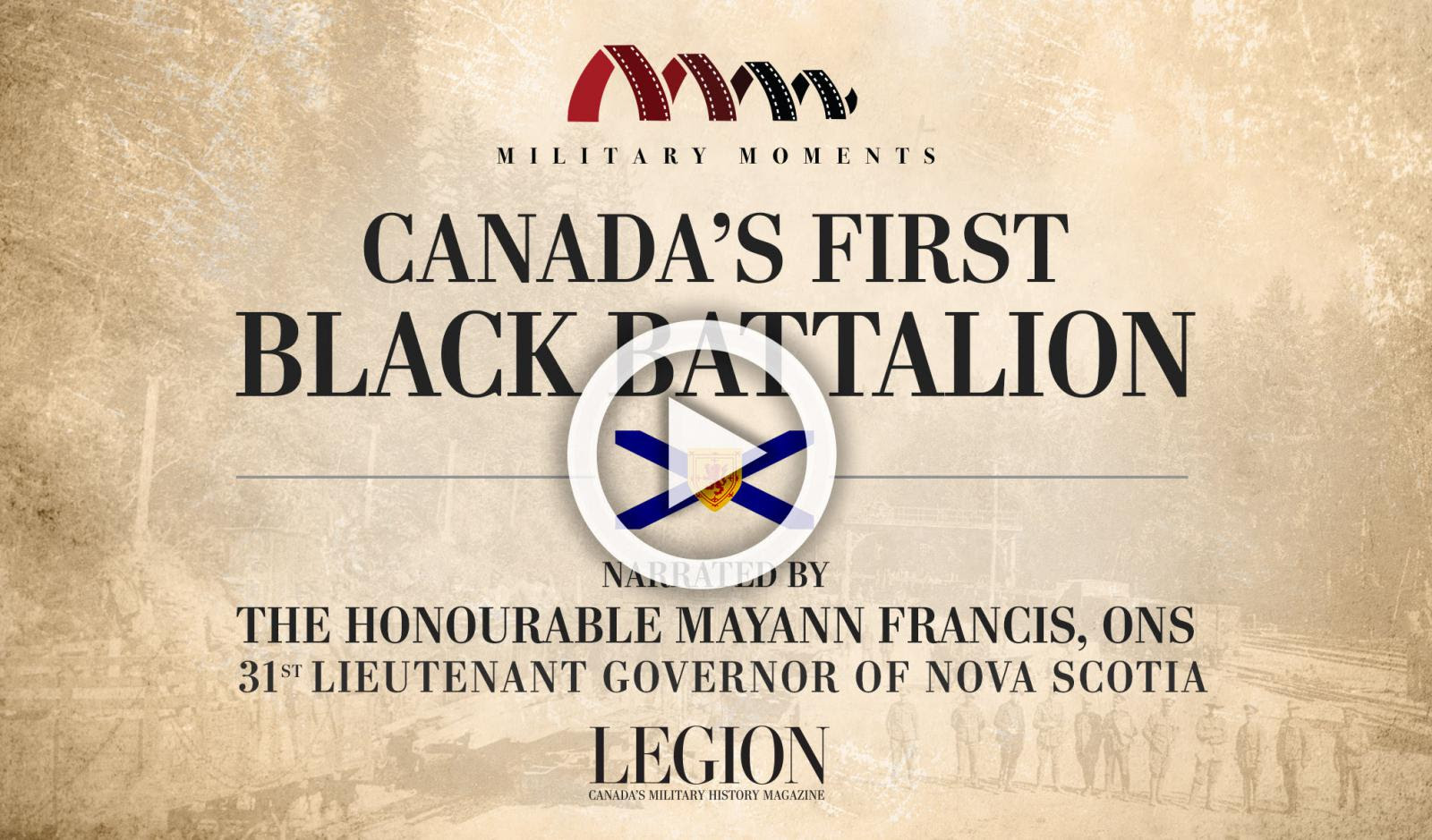 Mayann Francis Narrated Canada's first black battalion