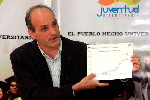 Ministerio del Poder Popular para la Educación Universitaria (Mppeu), Ricardo Menéndez.