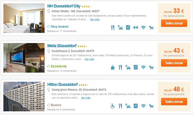 Hoteles en Dusseldorf baratos
