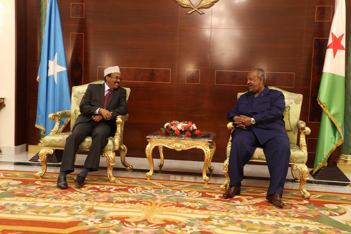 Madaxweynayaasha Somalia iyo Jabuuti oo kulmay-5