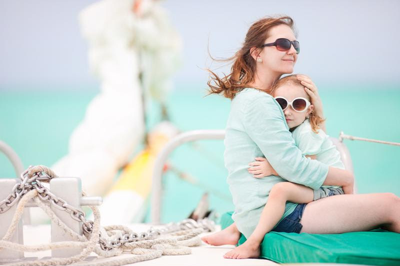 A sailing vacation is fun for the whole family.