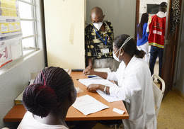 TB Clinic in Mozambique