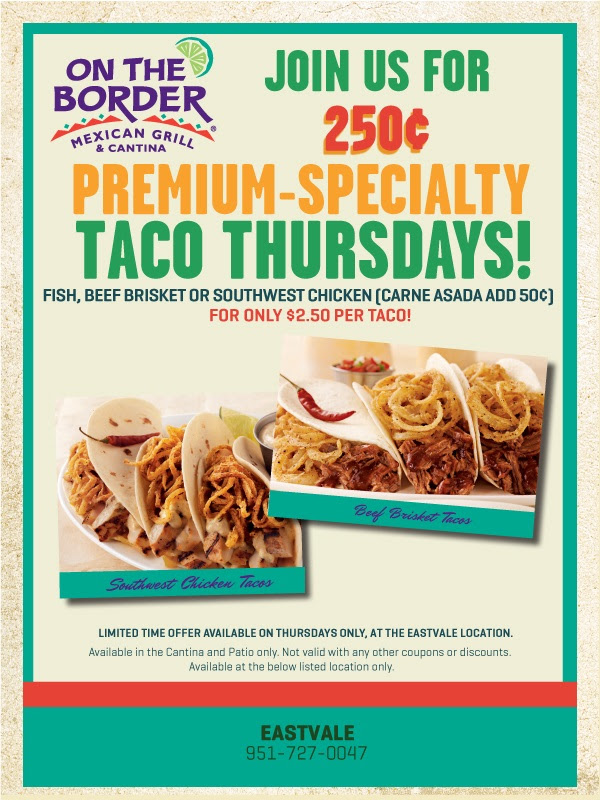Join Us Today for 250¢ Premium Tacos!