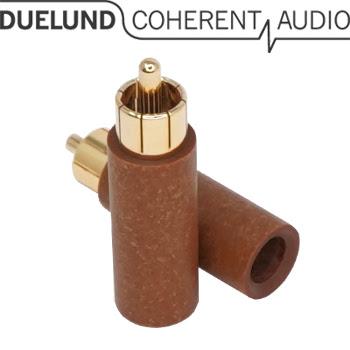 Duelund Gold & Rhodium Paper RCA Plugs
