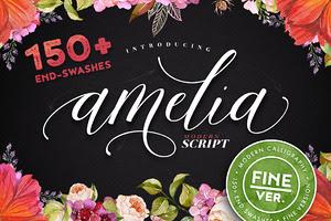 50% OFF - Amelia Script - Fine ver.