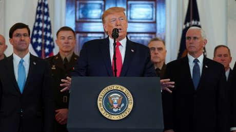 """Trump anuncia """"sanciones económicas adicionales"""" inmediatas contra Irán tras ataque en Irak"""
