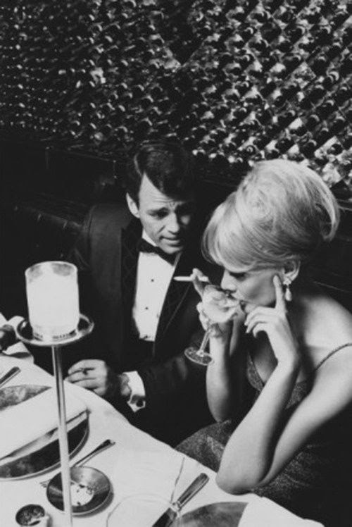 A Glamorous 1960s Couple Dining by Horn & Griner | Couples dining ...