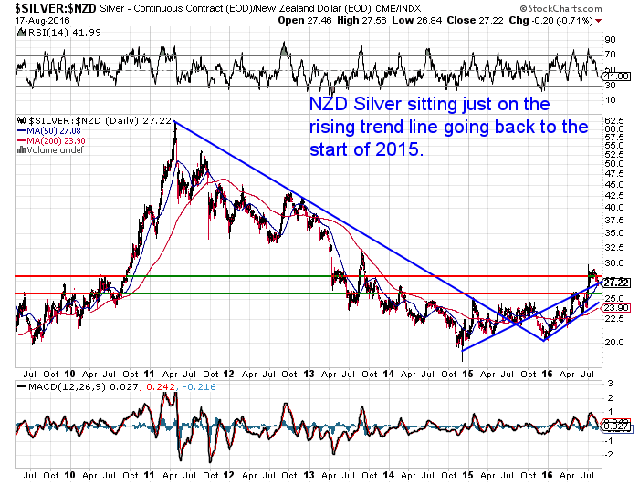 NZ Dollar Silver Chart - Long Term