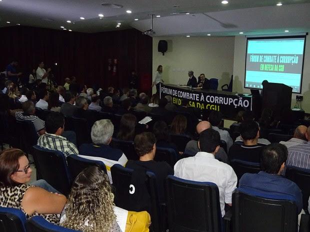 Fórum de Combate à Corrupção aconteceu na tarde desta segunda (13) em Natal (Foto: Divulgação/Assessoria)