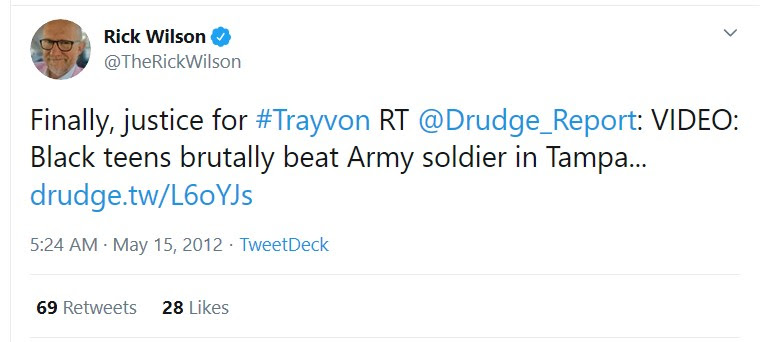 Third tweet busts Rick Wilson