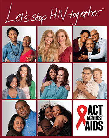 Thumbnail of the Poster: Let's Stop HIV Together.