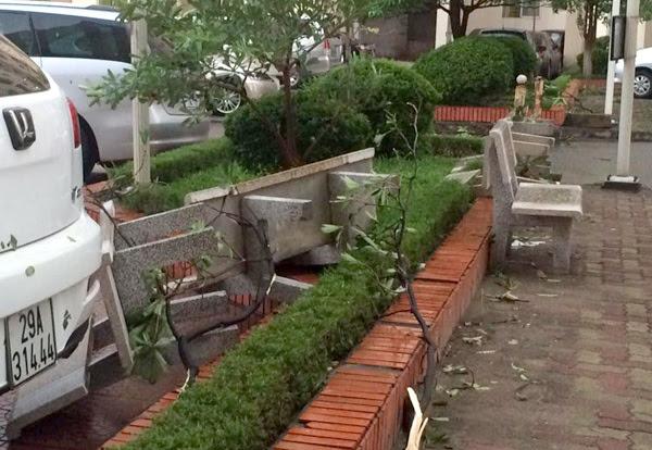 mưa, dông, Hà Nội, Vĩnh Tuy, ghế đá, ô tô