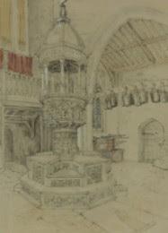 Fine Original 19th Century Graphite Drawing.