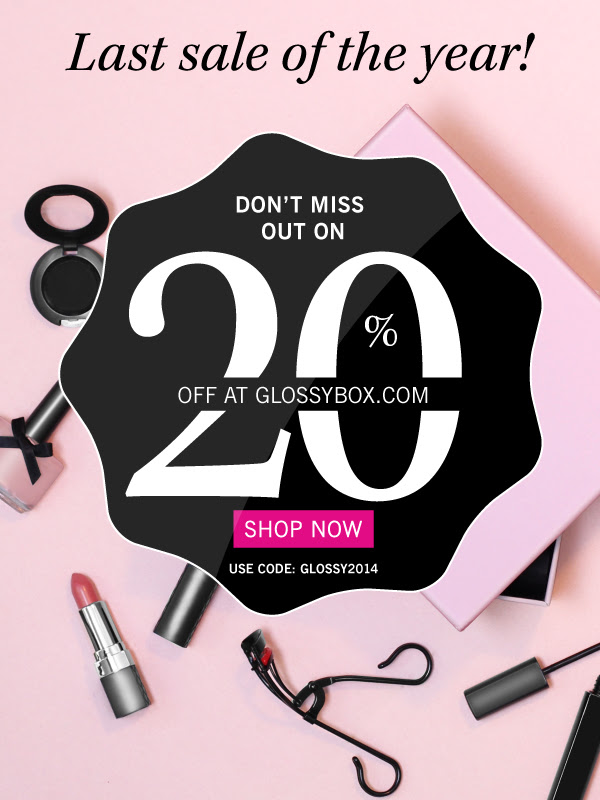Get 20% off at glossybox.com.