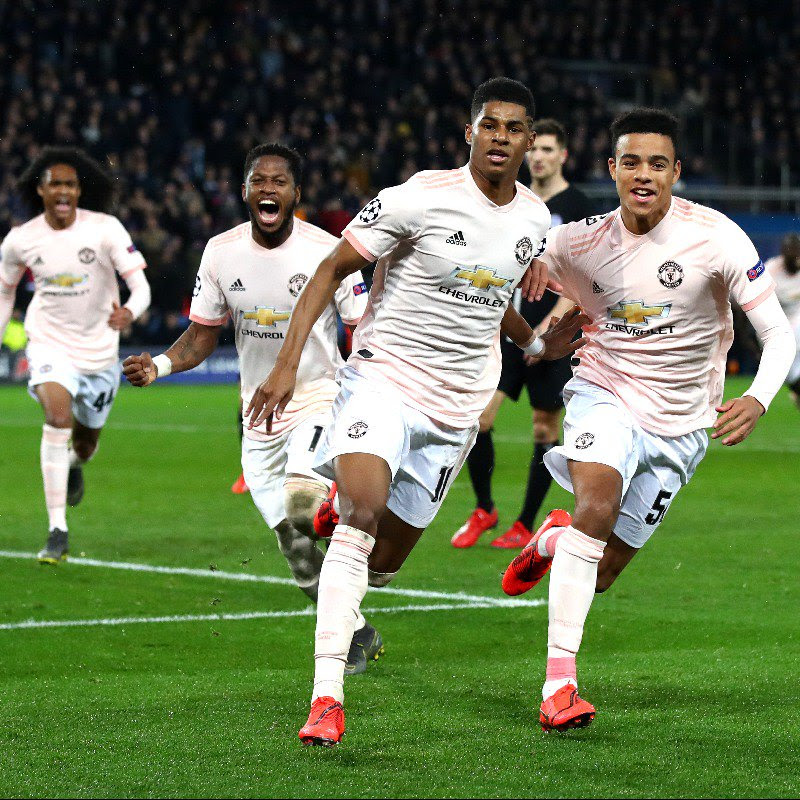 Marcus Rashford was the hero for Manchester United against Paris Saint-Germain[Twitter/ Manchester United]